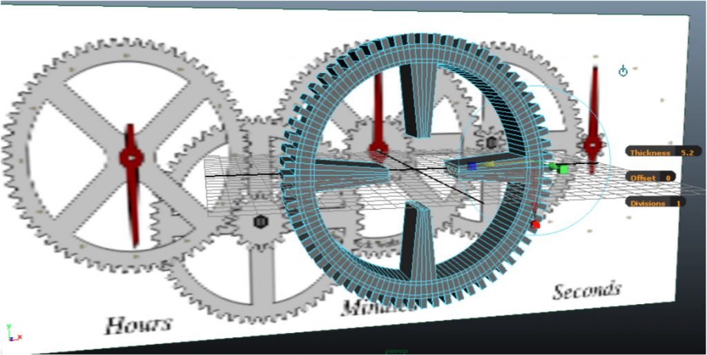 An example of manipulating and extruding a polygon shape in Autodesk Maya