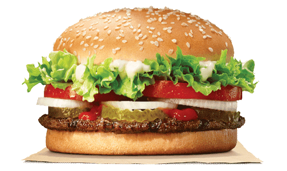 The Whopper Burger from Burger King